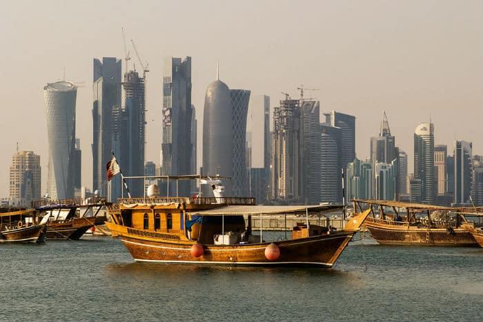 Doha, Qatar has many millionaires per capita