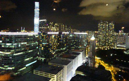 Hong Kong banks at night