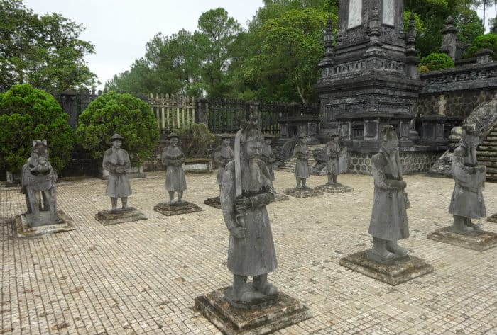 Khai Dinh tombs in Hue, Vietnam, the center of French imperialism