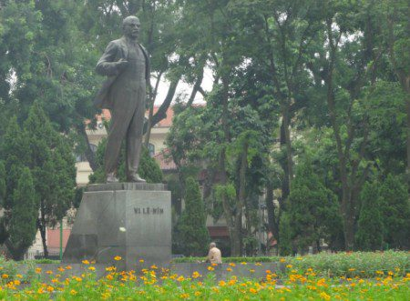 Vladimir Lenin statue in Hanoi Vietnam aims for gold confiscation