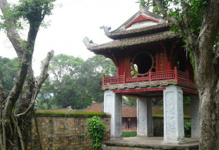 Temple of Literature in Hanoi Vietnam a gold place for gold storage or gold confiscation