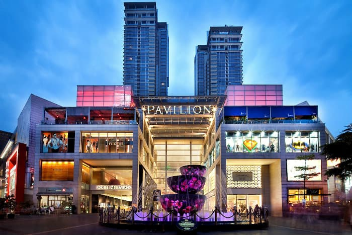 Pavilion shopping mall in Kuala Lumpur, great place for Asia expats