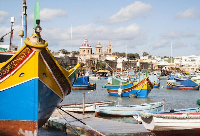 Fishing village of Marsaskala, Malta
