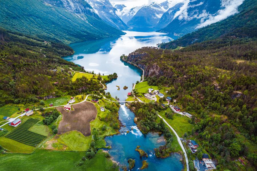 Lovatnet Lake Loen Norway