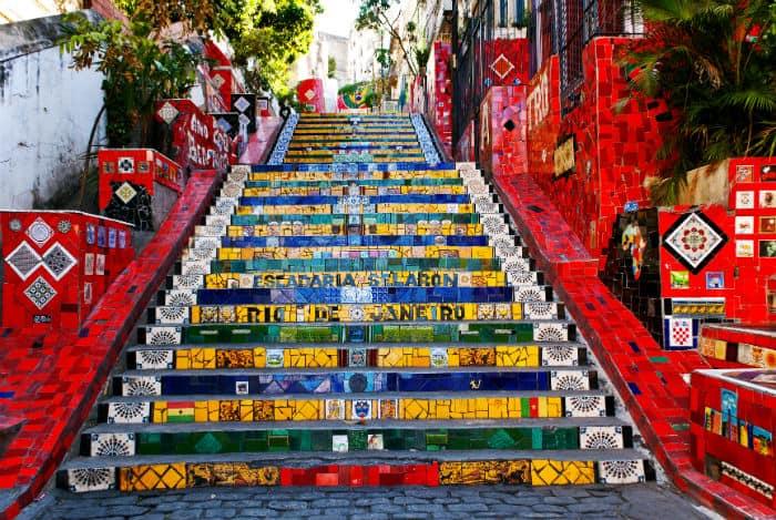 The stairway Selaron in Rio de Janeiro