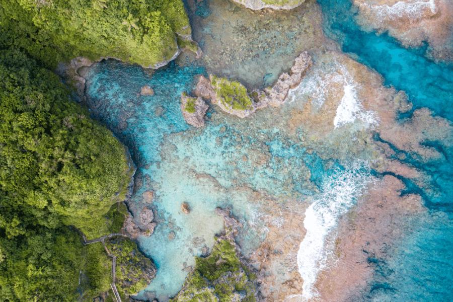 Niue choral reef