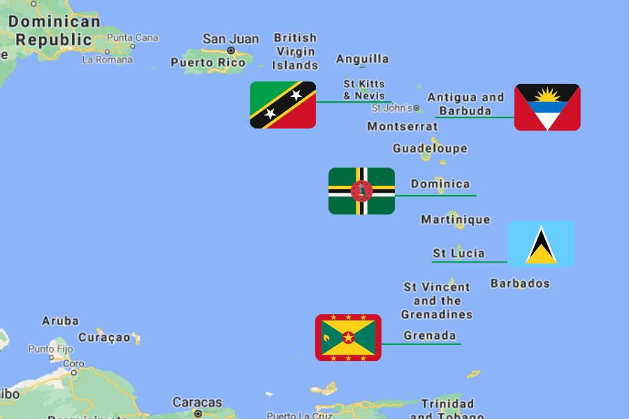 Map Caribbean CBI Countries
