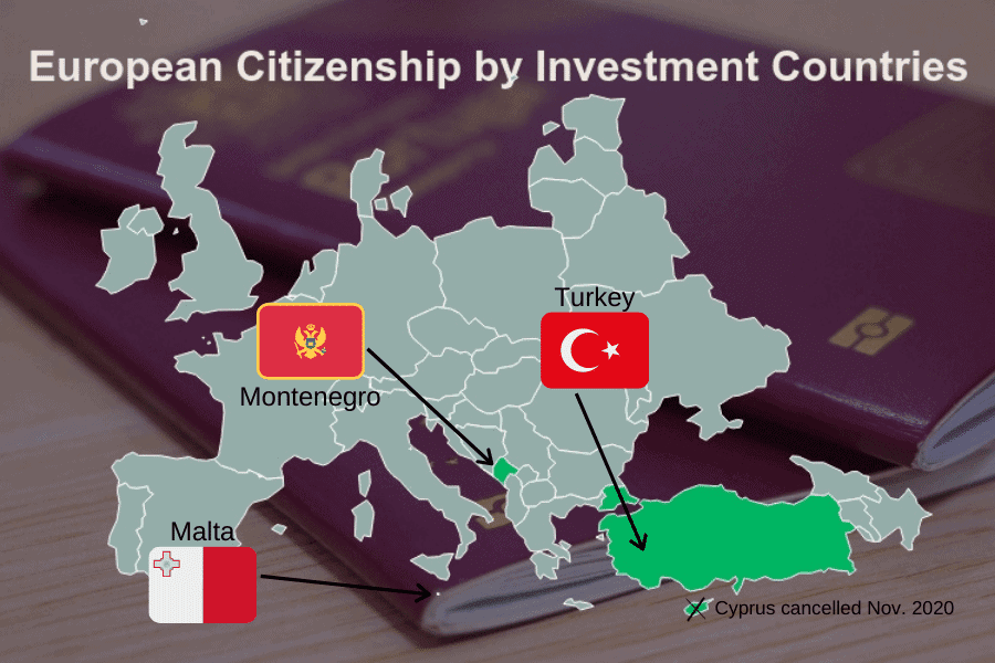 Map of European CBI Countries