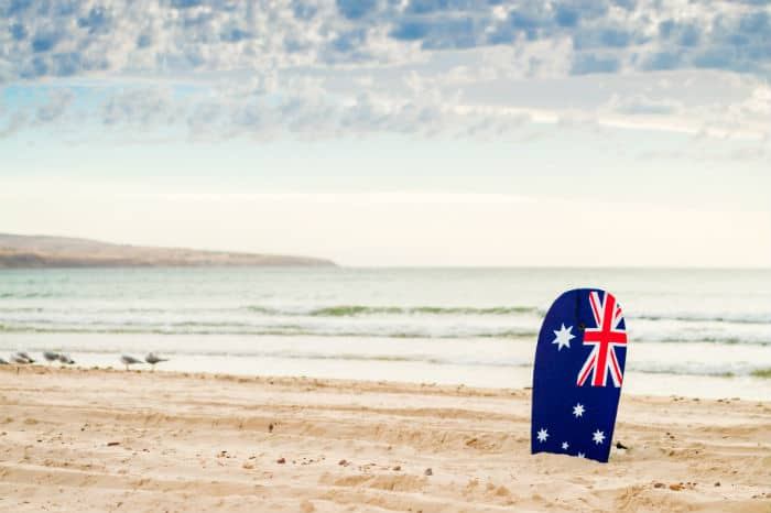 Australian citizenship on the beach