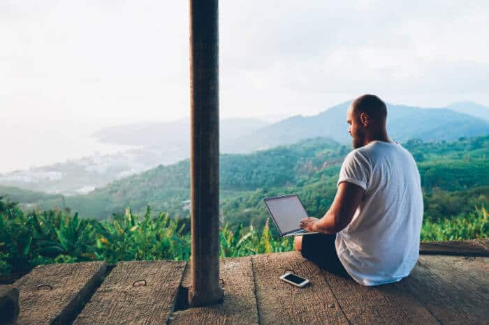 Taxes for Freelancers and Solopreneurs - Man in Bali