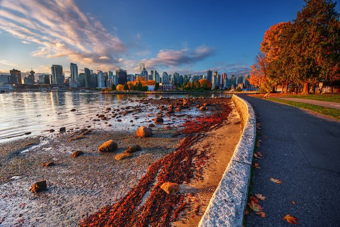 Canadian citizenship and permanent residence - city in autumn