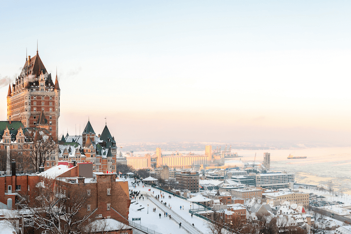Canadian citizenship and permanent residence - winter view