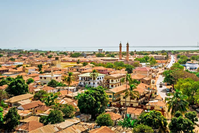 African frontier market of The Gambia
