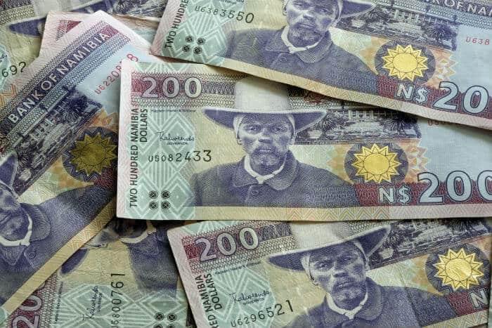 Namibia dollar debt yields