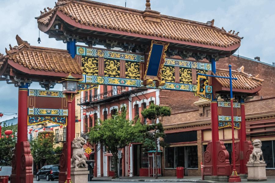 Chinatown in Victoria, Vancouver Island British Colombia Canada