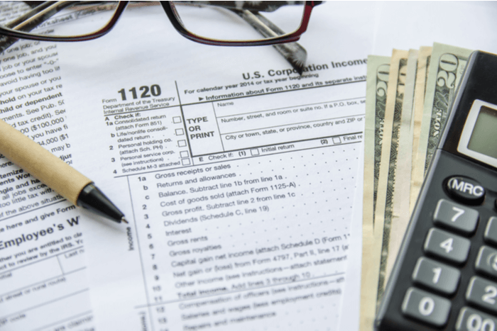 US Corporate Tax Form 1120