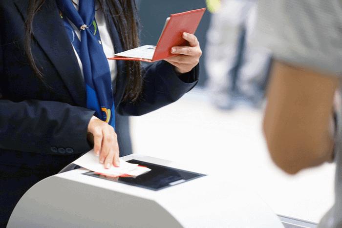 Airline Checking Passport