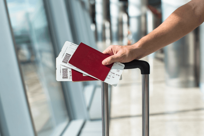 How to travel with two passport - airport