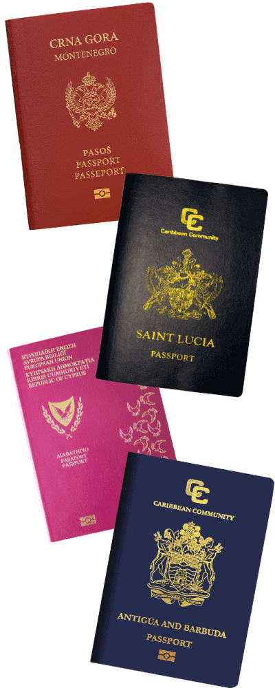 Passport Collage - Citizenship by Investment