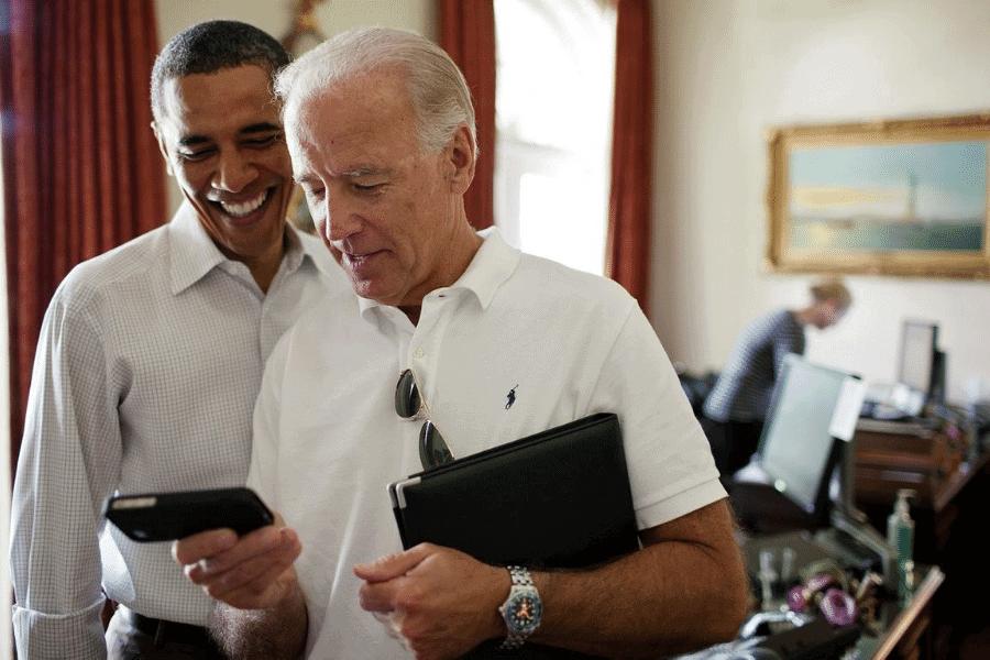 Joe Biden and Barak Obama