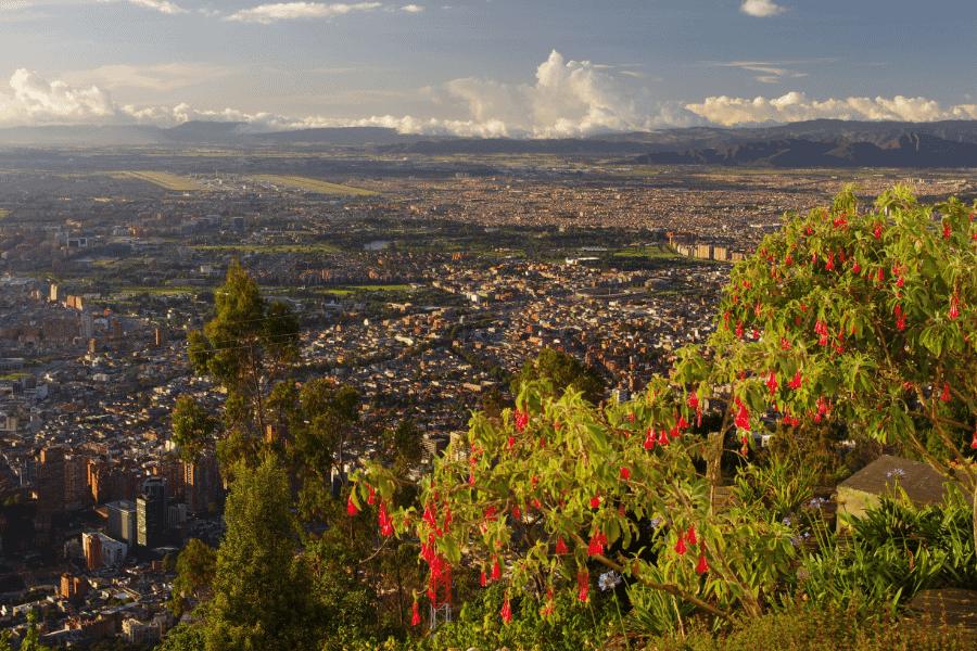 Bogota at sunset